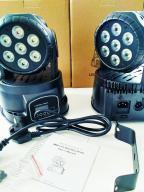 Ruchome Głowy Lixada 7x15w LED RGBW DMX NOWE MOCNE