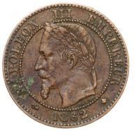 Francja - moneta - 2 Centymy 1862 A - 2 - RZADKA !