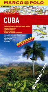 Cuba (geographical) Mapa Mapa składana Gizi Map