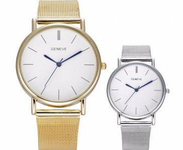 6cafdde72833bd Damski Zegarek ZŁOTY SREBRNY biała tarcza NEW - 6356078653 ...
