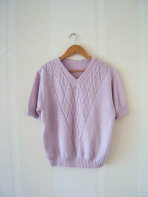 Dzianinowa sweterkowa bluzka lila fiolet r.XL/XXL