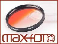 FILTR POMARAŃCZOWY POŁÓWKOWY 72mm Canon Nikon Sony