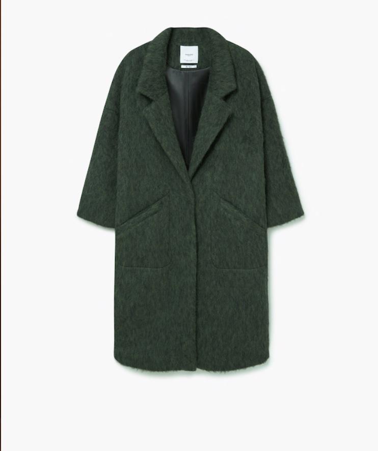 Wełniany płaszcz oversize Kobieta | Mango Polska