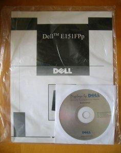 Instrukcja + płyta CD monitora Dell E151FPp
