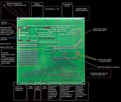 Prefabrykowana płyta PCB do podłączenia sterownika