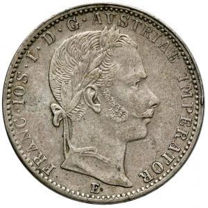 1063. Austria, 1/4 Floren 1862-E, st.2