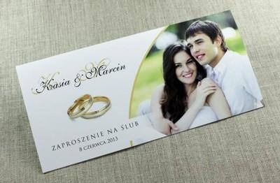 Niezwykłe Zaproszenia ślubne Ze Zdjęciem Duże Dl 6037615637