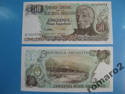 Banknot Argentyna 50 Pesos P- 314a 1983-1985 UNC