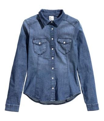 48b00555 H&M Koszula Jeansowa Jeans 34/XS - 6741961405 - oficjalne archiwum ...