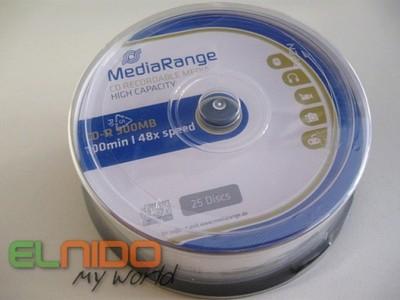 Pyty CD R 900 MB Mediarange 100 Min 25 Szt