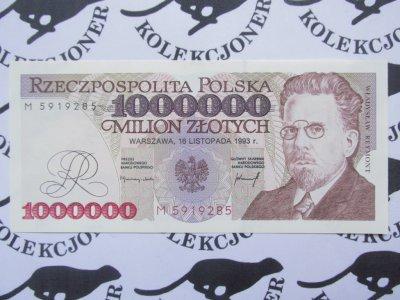 Zlotych 1000000 1991 UNC P-157 Poland 1,000,000
