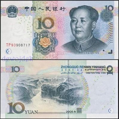 MAX - CHINY 10 Yuan 2005 r. # seria TP93 # UNC