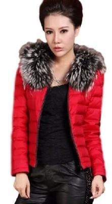 allegro pikowana kurtka z futerkiem