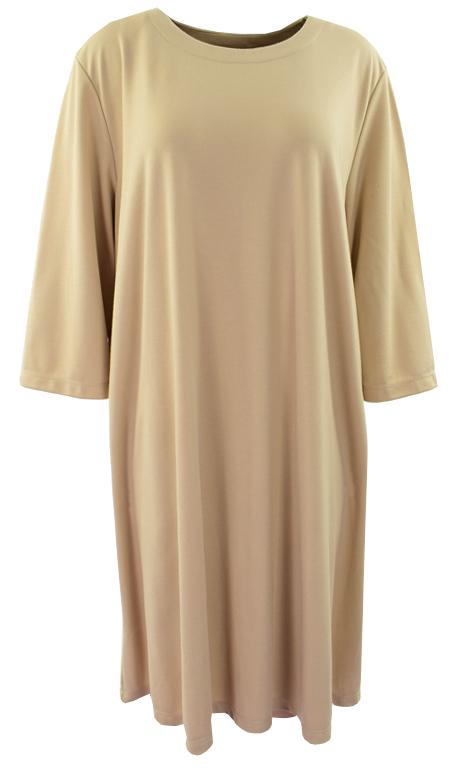 eN4665 Klasyczna beżowa sukienka 54