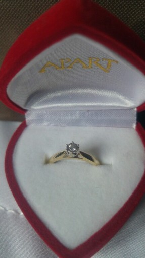 Złoty Pierścionek Zaręczynowy Apart 12 Diamenty 7014550791