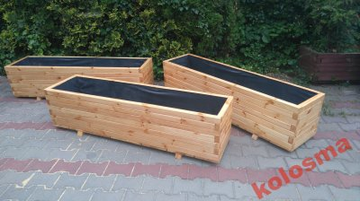 Drewniana Donica Prostokątna Na Ogród Dom Taras 6270324488