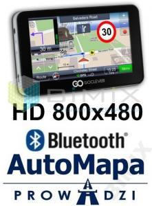 GOCLEVER NAVIO 500 PLUS HD ODBL. FULL + MP3 *8GB