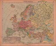 EUROPA WOJENNA MAPA 1943 rok ORYGINAŁ