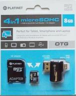 Karta pamięci microSDHC 8GB z adapterem OTG Platin