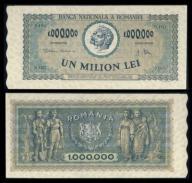 Rumunia 1000000 lei 1947r. P-60 VF ( 3 )