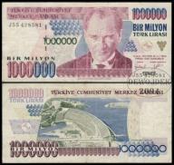 MAX - TURCJA 1000000 Lirasi (1995) r. # P209 # F+