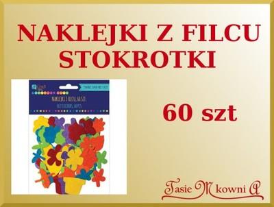 Naklejki Z Filcu Kwiaty Doniczki łodygi 60sztfilc