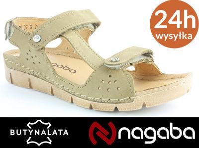 Sandały damskie Nagaba 306 czarny PROMOCJA R37