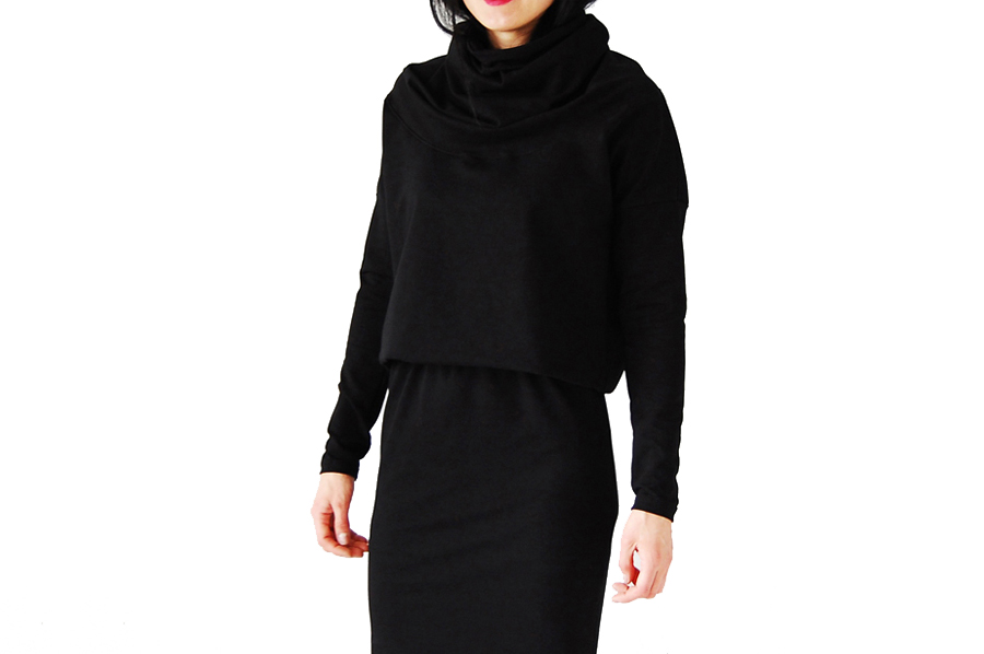 0b89a75c75 2XL   golf sukienka kimono czarny COLLIBRI   229 - 7069140916 ...