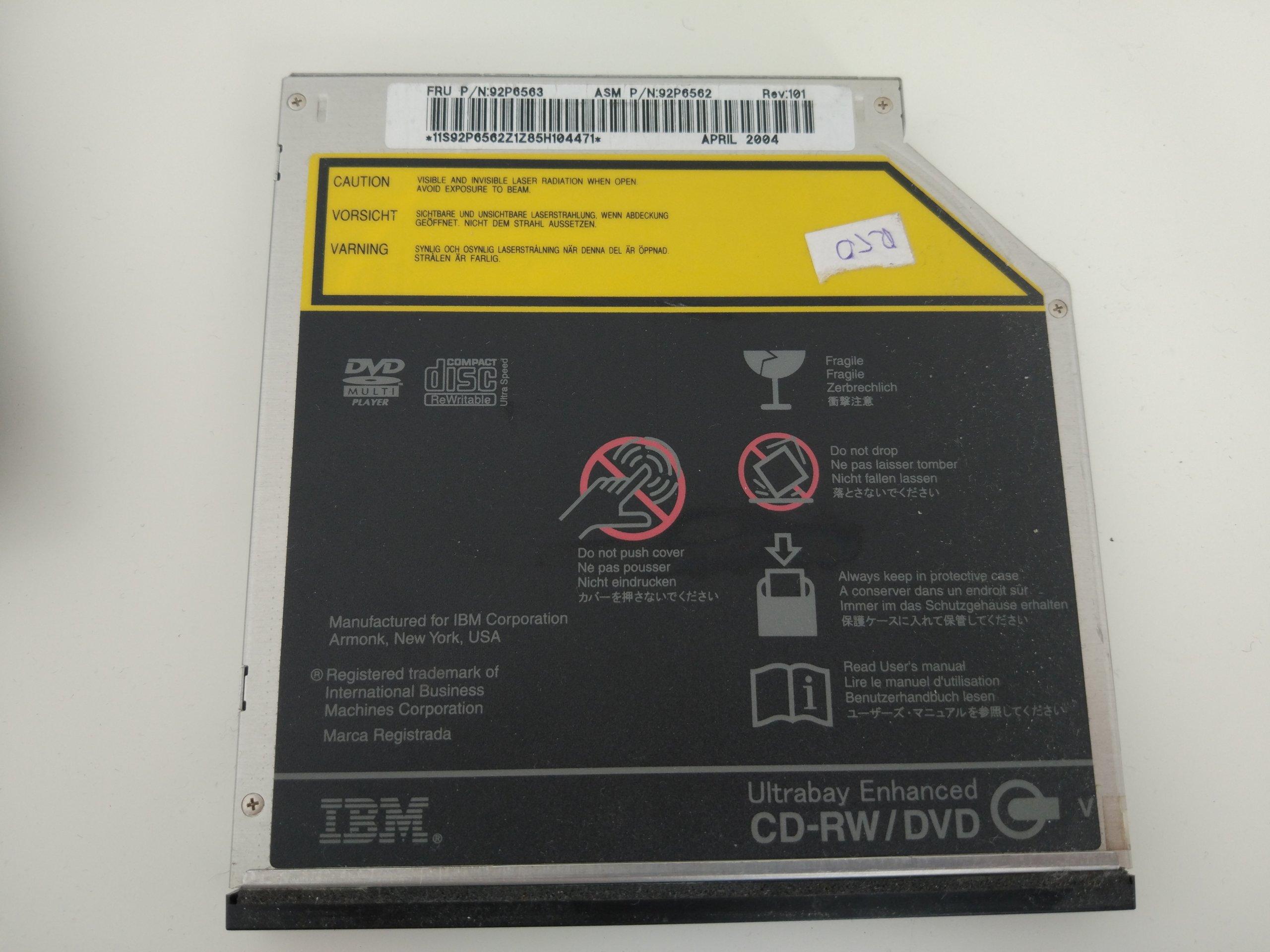 IBM THINKPAD R50 NAPĘD CD-RW/DVD FRU: 92P6563