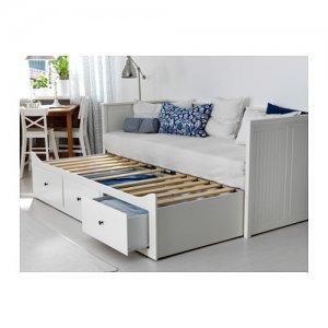 łóżko Rozkładane Ikea Hemnes Szuflady Białe 80x200