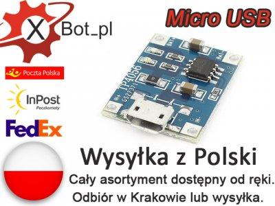 Ładowarka ogniw LI-ION 5V 1A TP4056 Micro USB