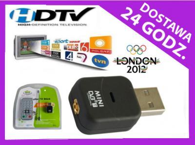 TUNER HDTV DVB-T MPG4 DEKODER HD USB laptop T117