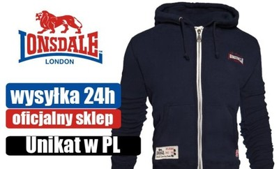 Bluza z kapturem LONSDALE  340 grm, 80% bawełna L