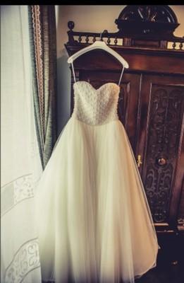 Suknia ślubna Z Gorsetem Z Pereł Dodatki 6822966967 Oficjalne
