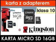 Karta micro SD klasa 10 KINGSTON 8 16 32 64 GB