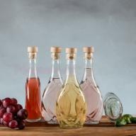 Butelka na nalewki IRIS 250 ml + korek grzybek