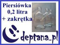 butelka butelki do wódki piersiówka 0,2L+zakrętki