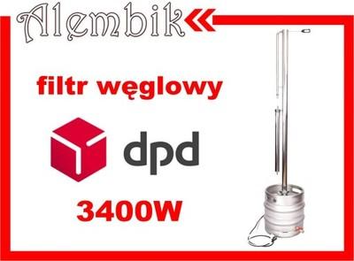 Destylator z wewnętrznym refluksem 94% +filtr Łódź
