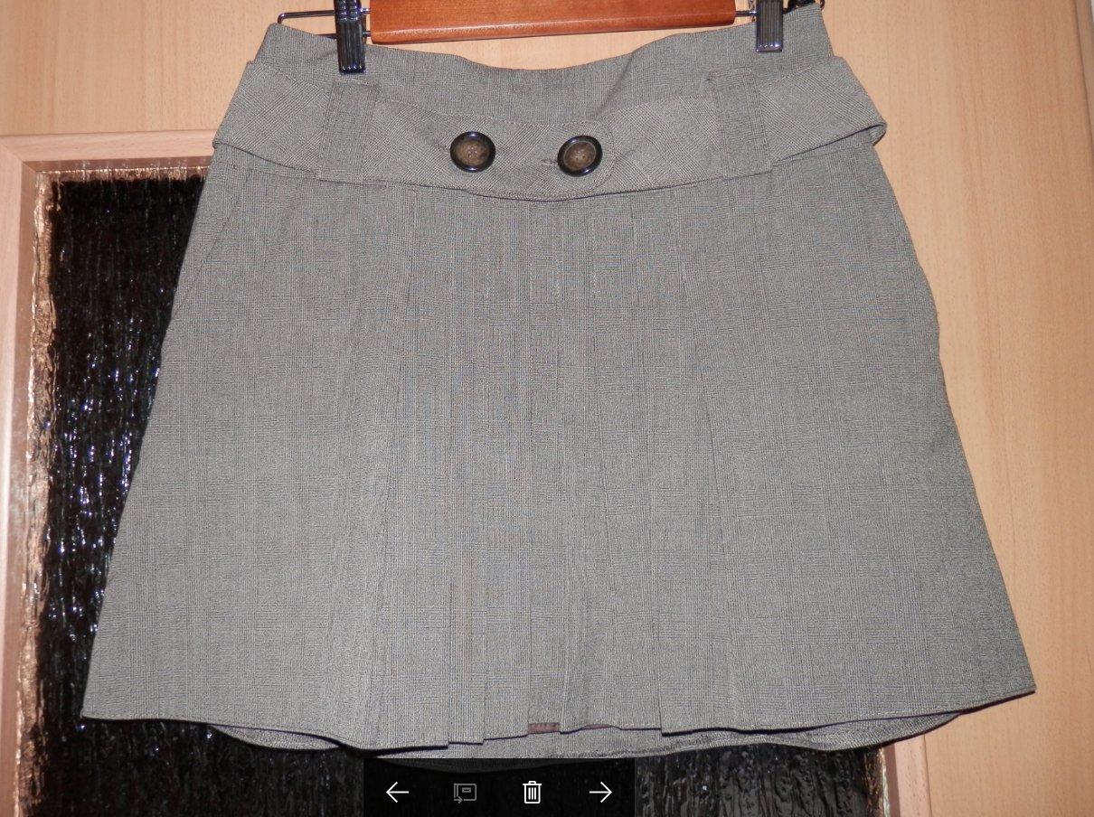 b74edd61bb spódnica CAMAIEU 36 S szara plisowana w kratkę - 7027668836 ...