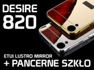 ETUI MIRROR LUSTRO BUMPER HTC DESIRE 820 + SZKŁO