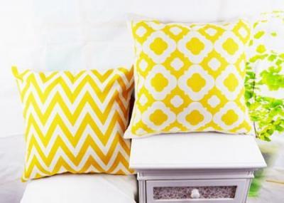 Poszewki Dekoracyjne Poduszki Wzory Wiosna żółta