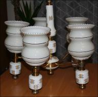 Żyrandol porcelanowy, retro design