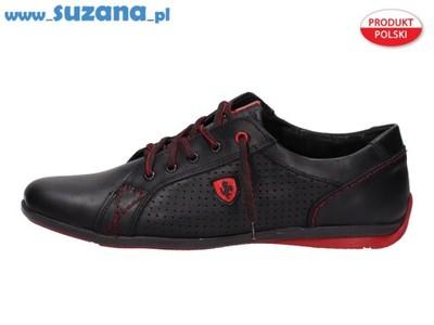 b12b1b4a Skórzane POLSKIE buty męskie POLBUT 360 czarne r41 - 5196431549 ...