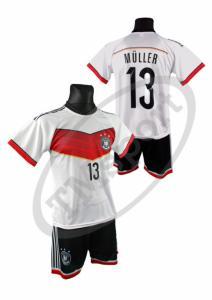 014e5c16fcdcfc strój komplet piłkarski Niemiec MULLER - S i inne - 4375116311 ...