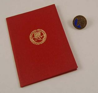 Odznaka Wędkarska PZW Złota z wieńcami RZADKA!