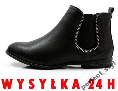 P_S ~ wygodne botki sztyblety ~ /black mq1699/ 38