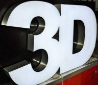Led 3D Litery Reklamy Przestrzenne Świecące 50cm