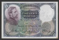 Hiszpania - 50 peset - 1931 - Rosales