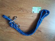 Granatowa/niebieska smycz regulowana dla psa