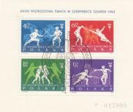 1963 - M Świata w szermierce Fi blok 38 kas